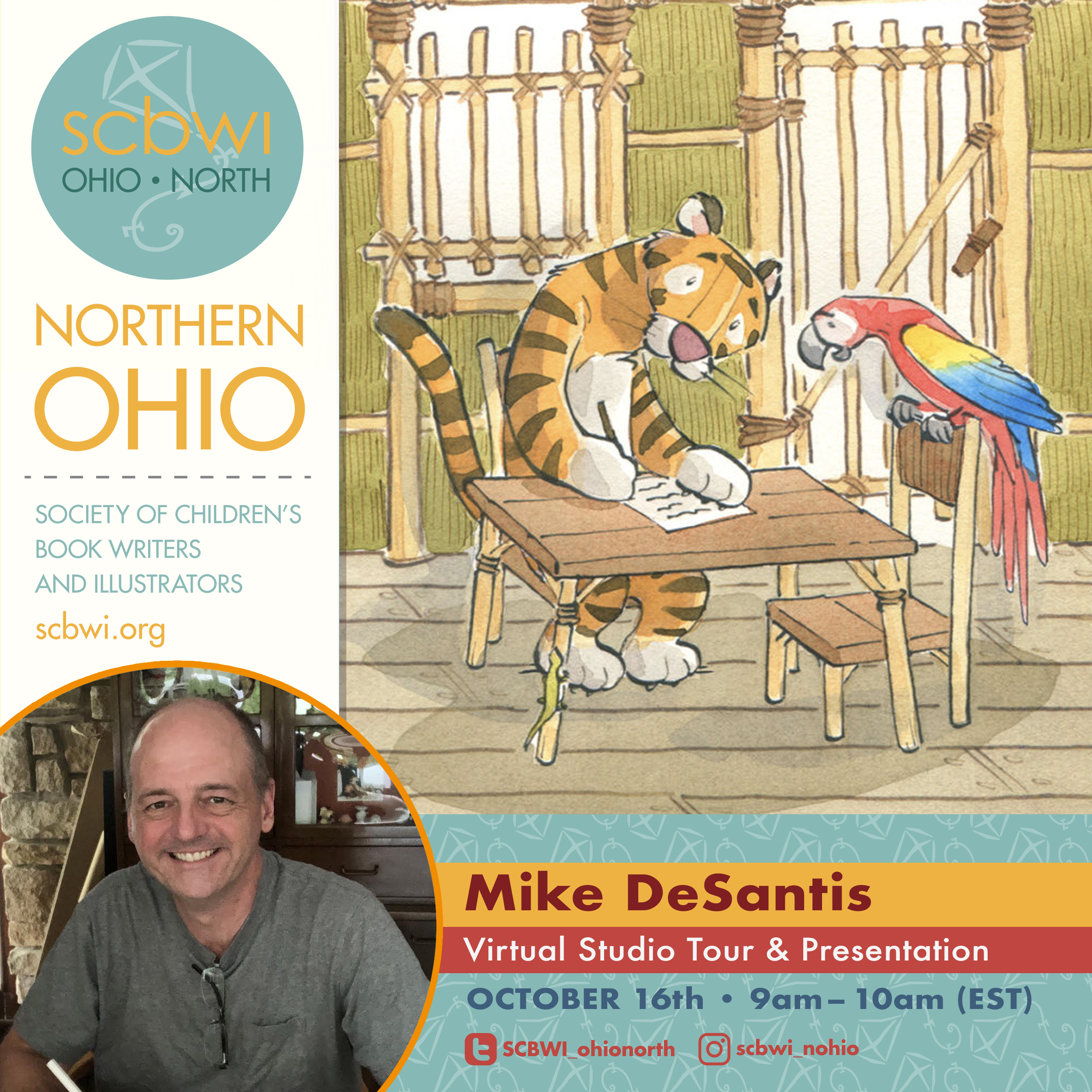 For more information or to register for Mike's virtual studio tour -> https://bit.ly/3giBJm2