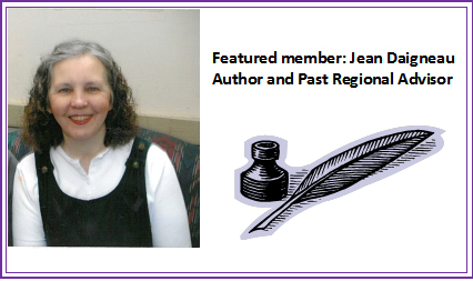 Featured member: Jean Daigneau, Author and Past Regional Advisor Jean Daigneau sold two picture books within a few weeks of submitting them and thought she was on her way to being a children's author. When neither book was published, she realized that she had a lot to learn about writing children's books and found her way to the Northern Ohio SCBWI. Since then, she has been published in Highlights, My Friend, Fun for Kidz, and Clubhouse magazines. She has sold educational testing material, craft ideas, and greeting card text and has been published both in the Children's Writers' and Illustrators' Market and The Guide to Literary Agents. Her most recent sales have been three pieces to Highlights magazine – one for their Gallant Kids feature and two for their What a Pro Knows feature. She continues to work on two pieces for Highlights, picture books, poetry, and non-fiction. Jean is a past Regional Advisor for the Northern Ohio SCBWI and currently serves on their board.